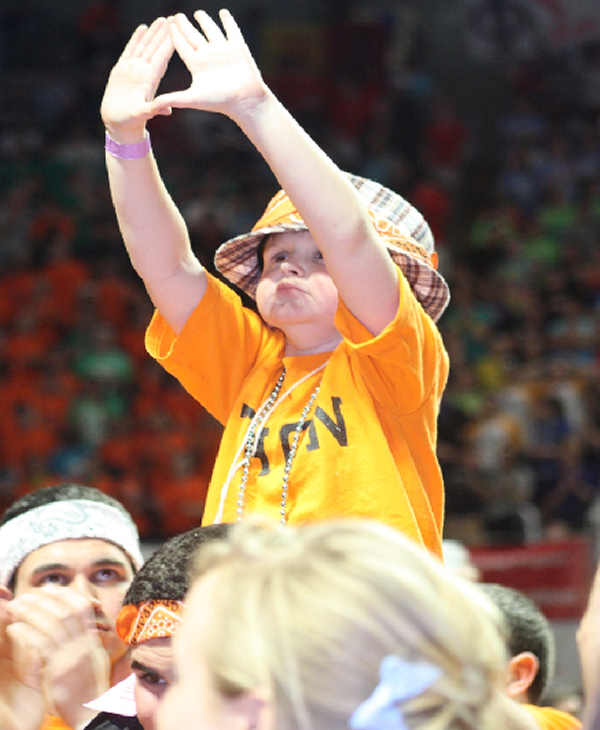 Pictures from the 2010 The Penn State IFC/Panhellenic Dance Marathon, known as THON.  Photo Courtesy: Thon.org/Photobase