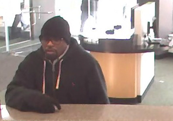 "The FBI says this man robbed four area banks in a matter of weeks. The suspect is described as a black male, late 20s to mid-30s, 5'9"" to 5'10"" tall, medium build, goatee, with dark-framed glasses. Anyone with information is urged to call the FBI at 215-418-4000."