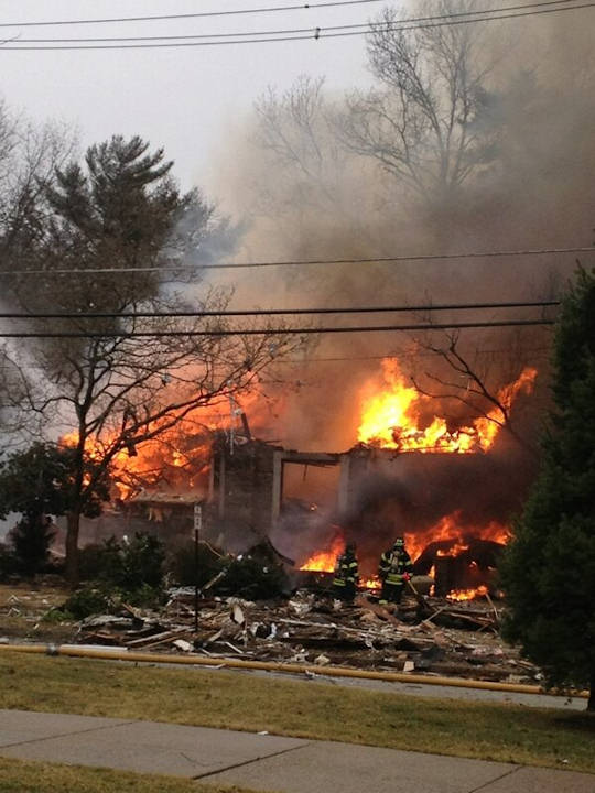 Action News viewers sent in photos of the fire that broke out in Haddon Heights on February 23, 2013.  Photo submitted by Lori Meintel.