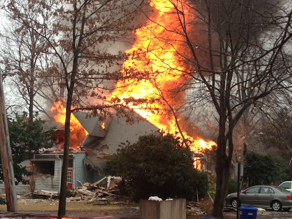 Action News viewers sent in photos of the fire that broke out in Haddon Heights on February 23, 2013.  Photo submitted by Rob Driscoll.