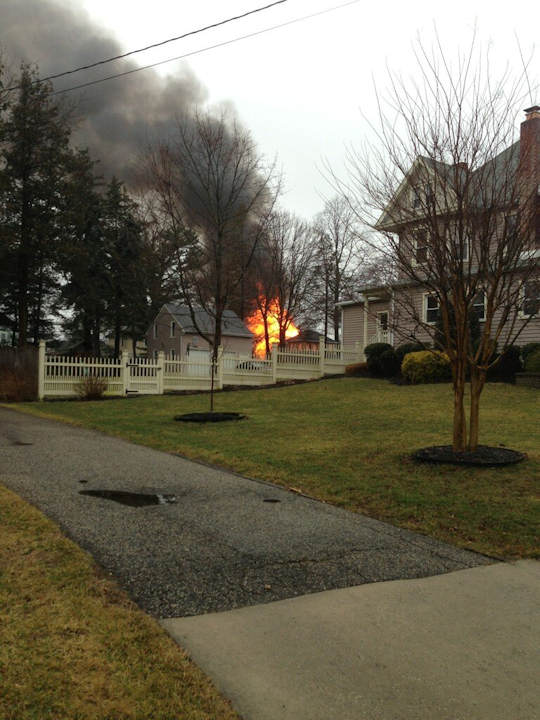 Action News viewers sent in photos of the fire that broke out in Haddon Heights on February 23, 2013.  Photo submitted by SheeCay.