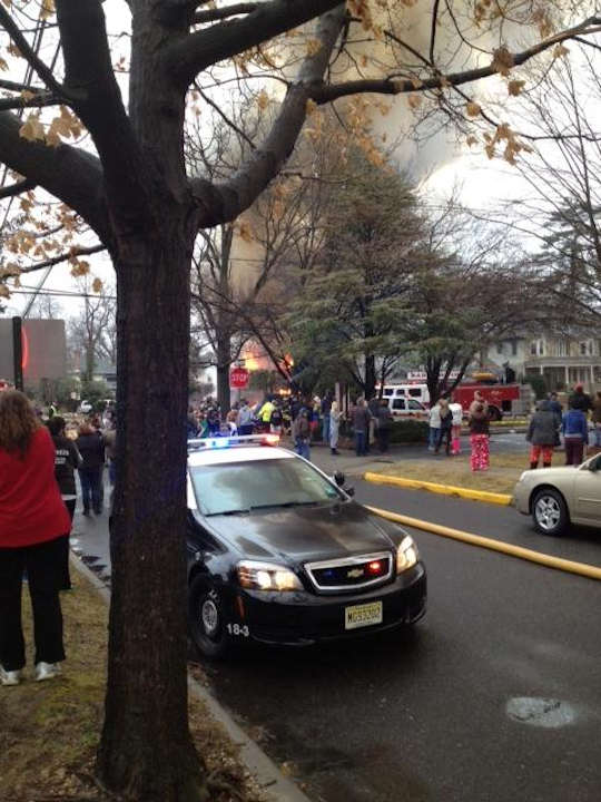 Action News viewers sent in photos of the fire that broke out in Haddon Heights on February 23, 2013.  Photo submitted by Jeanne Marie.