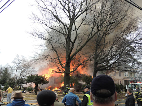 Action News viewers sent in photos of the fire that broke out in Haddon Heights on February 23, 2013.  Photo submitted by Nadja Riggs.