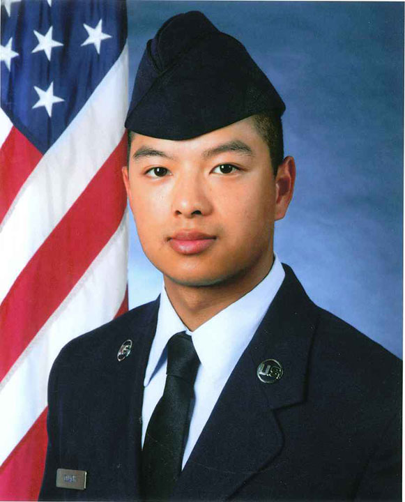 A vigil was held for 26-year-old Senior Airman Victor du Quach on Sunday, February 23, 2014. Victor du Quach was killed in a crash on I-95 during a snowstorm days earlier.
