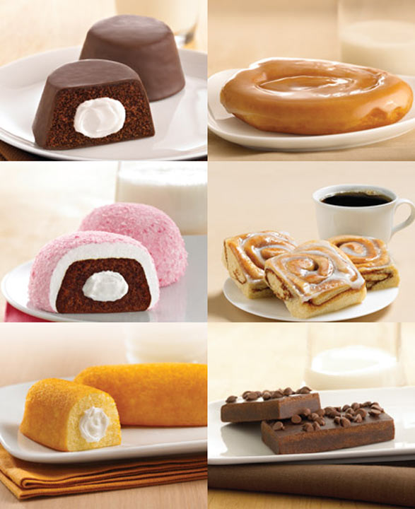 Tastykake turns 100  Chocolate Bells    ----------   Honey Buns: Glazed Honey Buns Iced Honey Buns  ----------   Pink Snowballs   ----------  Sweet Rolls: Cinnamon Rolls  ----------  Dreamies  ----------  Other:  Brownies  Holiday Tub Cookies Pecan Swirls Pretzel Rods Sugar Wafers Swiss Rolls <span class=meta>(tastykake.com)</span>