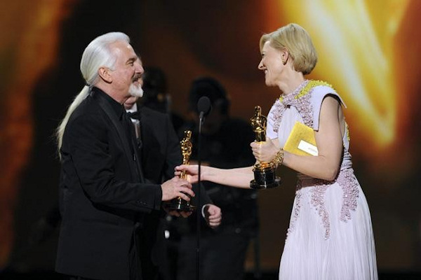 "<div class=""meta image-caption""><div class=""origin-logo origin-image ""><span></span></div><span class=""caption-text"">THE 83RD ACADEMY AWARDS® - THEATRE - Academy Awards for outstanding film achievements of 2010 were presented on Sunday, February 27, 2011, at the Kodak Theatre at Hollywood & Highland Center, and televised live as ""The 83rd Annual Academy Awards"" on the ABC Television Network. (A.M.P.A.S.) RICK BAKER, DAVE ELSEY (OBSCURED), CATE BLANCHETT </span></div>"