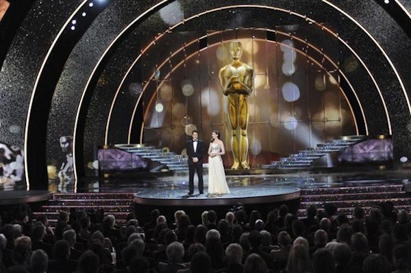 "<div class=""meta image-caption""><div class=""origin-logo origin-image ""><span></span></div><span class=""caption-text"">	THE 83RD ACADEMY AWARDS® - THEATRE - Academy Awards for outstanding film achievements of 2010 were presented on Sunday, February 27, 2011, at the Kodak Theatre at Hollywood & Highland Center, and televised live as ""The 83rd Annual Academy Awards"" on the ABC Television Network. (A.M.P.A.S.) JAMES FRANCO, ANNE HATHAWAY </span></div>"