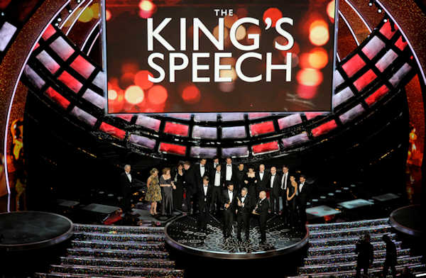 "<div class=""meta ""><span class=""caption-text "">Iain Canning, Emile Sherman and Gareth Unwin accept the Oscar for best motion picture for ""The King's Speech"" at the 83rd Academy Awards on Sunday, Feb. 27, 2011, in the Hollywood section of Los Angeles. (AP Photo/Mark J. Terrill)</span></div>"