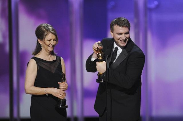 "<div class=""meta image-caption""><div class=""origin-logo origin-image ""><span></span></div><span class=""caption-text"">THE 83RD ACADEMY AWARDS® - THEATRE - Academy Awards for outstanding film achievements of 2010 were presented on Sunday, February 27, 2011, at the Kodak Theatre at Hollywood & Highland Center, and televised live as ""The 83rd Annual Academy Awards"" on the ABC Television Network. (A.M.P.A.S.) KAREN O'HARA, ROBERT STROMBERG </span></div>"