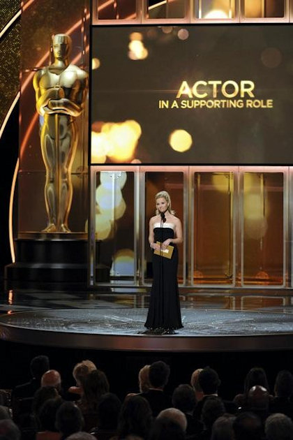 "<div class=""meta ""><span class=""caption-text "">THE 83RD ACADEMY AWARDS® - THEATRE - Academy Awards for outstanding film achievements of 2010 were presented on Sunday, February 27, 2011, at the Kodak Theatre at Hollywood & Highland Center, and televised live as ""The 83rd Annual Academy Awards"" on the ABC Television Network. (A.M.P.A.S.) REESE WITHERSPOON </span></div>"
