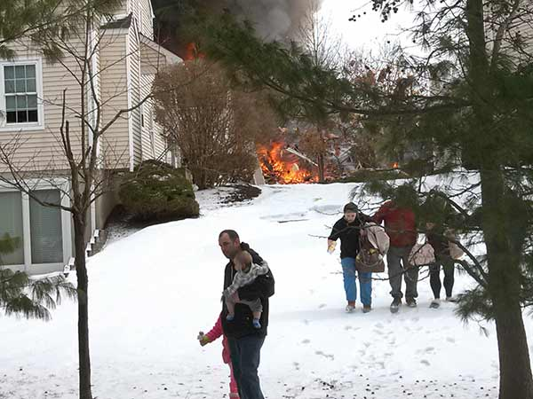Action News viewer John Jarmback sent us several photos from the scene in the moments following the explosion.