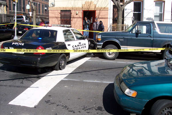 Action News viewer Raul Gonzalez sent us images of the scene right after the suspects crashed the Camden police cruiser at the intersection of 7th and Norris streets in North Philadelphia.