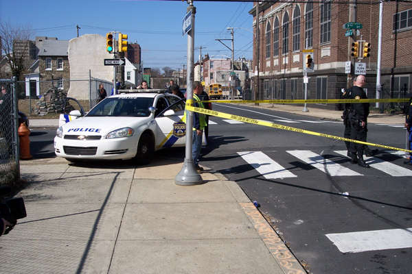 "<div class=""meta ""><span class=""caption-text "">Action News viewer Raul Gonzalez sent us images of the scene right after the suspects crashed the Camden police cruiser at the intersection of 7th and Norris streets in North Philadelphia.</span></div>"
