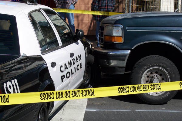 "<div class=""meta image-caption""><div class=""origin-logo origin-image ""><span></span></div><span class=""caption-text"">Action News viewer Raul Gonzalez sent us images of the scene right after the suspects crashed the Camden police cruiser at the intersection of 7th and Norris streets in North Philadelphia.</span></div>"