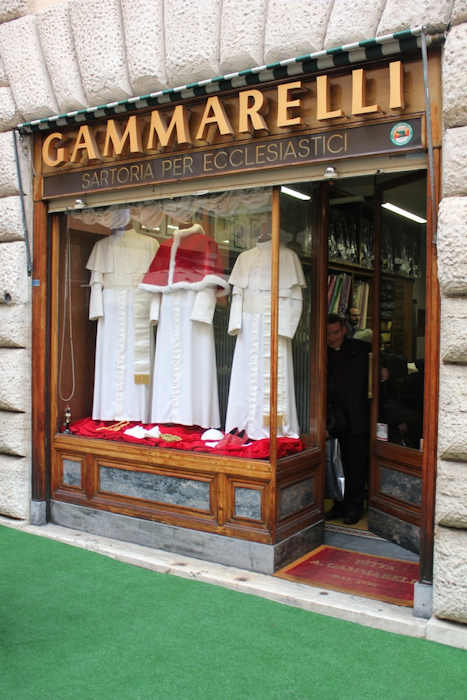 "<div class=""meta image-caption""><div class=""origin-logo origin-image ""><span></span></div><span class=""caption-text"">Tuesday, March 5, 2013: A view of the clothes to be worn by the next pope, on display in the shop of the tailor who created them.  Action News' Brian Taff and his crew are on assignment in Rome, covering the selection of the next pope.</span></div>"