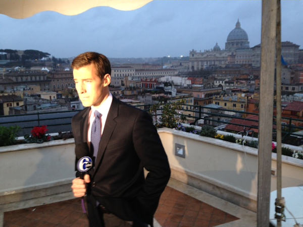 Wednesday, March 6, 2013: Another sight captured by Action News' Brian Taff and his crew in Rome.  They are on assignment, covering the selection of the next pope.