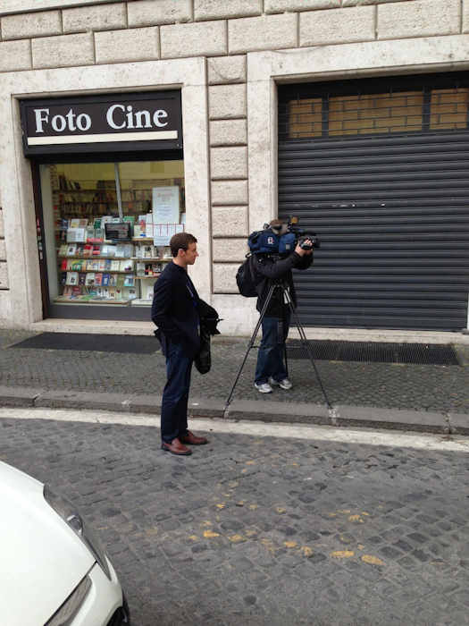 Thursday March 7, 2013: Another sight captured by Action News' Brian Taff and his crew in Rome.  They are on assignment, covering the selection of the next pope.