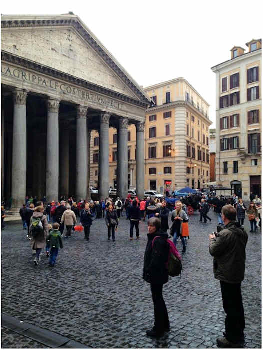 Friday, March 8, 2013: The famed Pantheon in Rome.  Action News' Brian Taff and his crew are on assignment in Rome, covering the selection of the next pope.