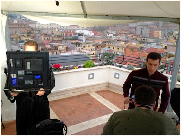 Monday March 11, 2013: Another sight captured by Action News' Brian Taff and his crew in Rome.  They are on assignment, covering the selection of the next pope.