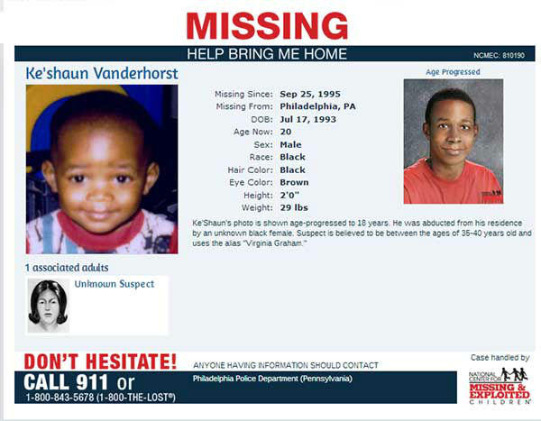 "<div class=""meta ""><span class=""caption-text "">Help the National Center for Missing and Exploited Children bring these missing children home.  If you have any information, please call: 1-800-843-5678 (1-800-THE-LOST)</span></div>"