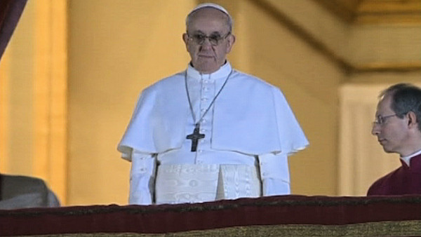 Wednesday, March 13, 2013: Jorge Bergoglio of Argentina greets the world for the first time as Pope Francis just over an hour after being elected pope.