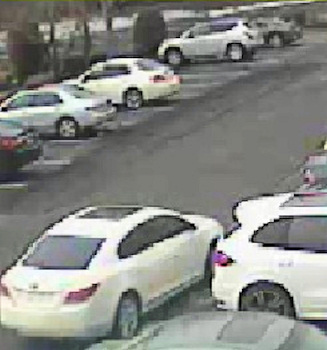 Surveillance photo: Suspect vehicle used in connection with thefts from vehicles parked outside fitness clubs in Cherry Hill, N.J.