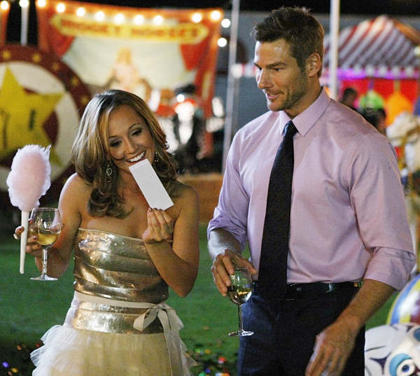 Ashley Hebert on a date at a carnival with bachelor Brad Womack during an early episode of the most recent edition of &#34;The Bachelor&#34; on ABC. Hebert was named the next &#34;Bachelorette&#34; and her series will premiere on May 23 at 9 p.m. <span class=meta>(ABC-TV)</span>