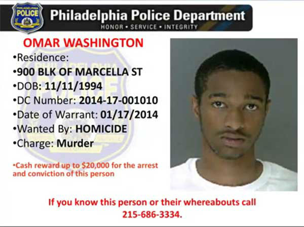 Pictured:  One of the 100 most wanted being sought by the Philadelphia Police Department.  Anyone with information on this suspect is asked to contact Philadelphia Police at 215-686-TIPS (8477), text a tip to PPD TIP (773847) or through PhillyPolice.com.