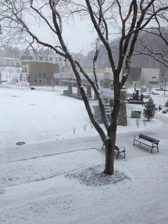 "Action News viewer Anthony Bednarz tweeted this photo of ""The view at Penn State Berks west of Reading, PA"" on March 18, 2013."