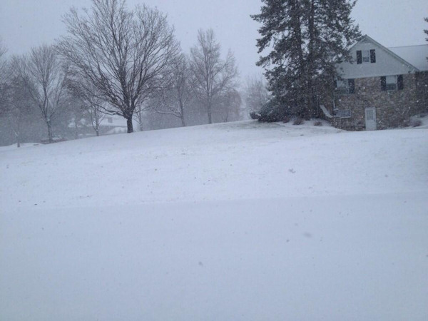 Action News viewer Tessa tweeted this photo of the Lehigh Valley on March 18, 2013.