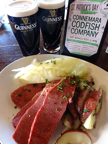 Pictured: Corned Beef and Cabbage at Bridget Foy's during Tastes of St Patrick's Weekend in the South Street Headhouse District. (Courtesy: South Street Headhouse District)