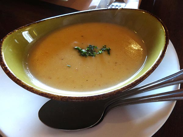 Pictured: O'Reilly's Stout and Cheddar soup at Bridget Foy's during Tastes of St Patrick's Weekend in the South Street Headhouse District. (Courtesy: South Street Headhouse District)