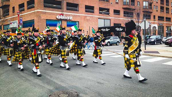 Pictured: The Irish Society's surprise performance on South Street after Philadelphia St. Patrick's Day Parade  (Courtesy: South Street Headhouse District)