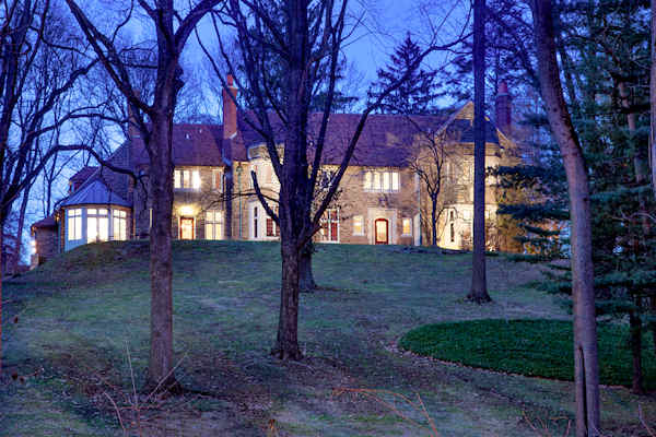 There will be an open house at this home at 1655 Mount Pleasant Road in Villanova, Pa. on Sunday, March 24th from 2:00 p.m. to 4:00 p.m.    From the real estate listing:  Donglomor, a classic stone English Manor home, perfectly blends Main Line architectural grandeur with all of today's modern amenities.  Old world elegance includes handsome millwork, soaring ceilings, stone archways, ornate fireplaces and leaded glass windows. The beauty is not just in the details, but on display in every room and out of every window. Perfectly sited on 6+ acres of landscaped and mature foliage, this estate home will wow you with its stone terraces and breathtaking panoramic views.  Inside, marvel at the limestone domed vestibule, grandly proportioned living and dining rooms, library, and jaw-dropping two story gourmet kitchen and breakfast room.  The home also boasts an expansive master bedroom suite and luxurious spa-like bathroom, plus spacious lower level recreation room and guest suite.