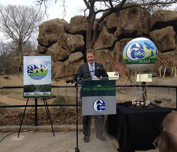 "<div class=""meta ""><span class=""caption-text "">6abc President and General Manager Bernie Prazenica address the crowd at the announcement and speaks of the station's partnership with the Philadelphia Zoo in bringing the Channel 6 ZooBalloon back for a final season. ""Since it first took flight in 2002, The Channel 6 ZooBalloon has been a source of immense pride - not just for all of us here at 6abc, but for Delaware Valley residents and Zoo guests alike,"" says Mr. Prazenica.  ""In the words of so many of our viewers...this is no ordinary balloon; it is a unique and treasured piece of the Philadelphia skyline.  Now, we are proud to put that missing piece back in its place, and to give Zoo guests the chance to Soar Once More.""</span></div>"