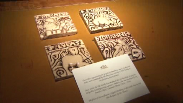 Governor Tom Corbett presented Pope Francis with these Mercer tiles from Moravian Pottery &#38; Tile Works in Bucks County.  <span class=meta>(Michael Nutter on Twitter)</span>