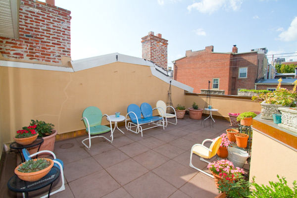 Pictured: 838-40 Lombard Street in Washington Square West. It has an asking price of $1,695,000 From Realtor Mike McCann: Heavenly 5 bedroom, 4.5 bathroom home with rooftop terrace, elevator, and garage, complete with granite and stainless kitchen, cozy den, 4 piece marble tile bath and private yard with patio and gardening area.  It's all located in one of the most beautiful and vibrant neighborhoods this city has to offer!