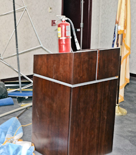 "<div class=""meta ""><span class=""caption-text "">Officials say it was 8:30 a.m. on Tuesday April 2, 2013 when the suspect got his hands on a fire extinguisher, allegedly spraying several officers and damaging offices on the 4th floor of the Atlantic City Public Safety Building, located in the 2700 block of Atlantic Avenue.</span></div>"