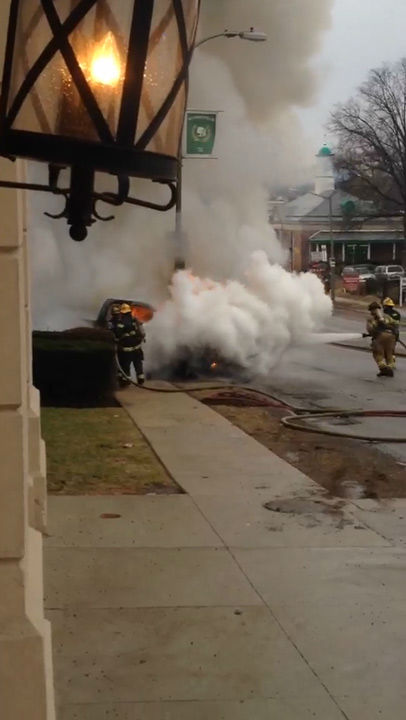 Action News viewer Connor Woodward was on the scene as a truck caught fire in the Wynnefield section of Philadelphia on April 2, 2014.
