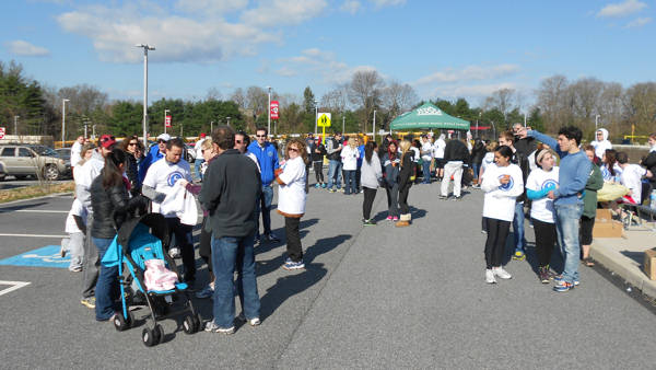 Brian Taff emcees the Adam R. Spector Foundation's Walk to Win for Hodgkin's lymphoma research.