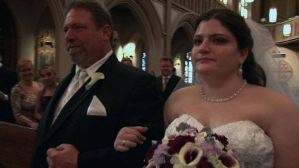 "<div class=""meta image-caption""><div class=""origin-logo origin-image ""><span></span></div><span class=""caption-text"">A Montgomery County mother of the bride wants to find two strangers who crashed her daughter's wedding in Valley Forge.  Pictured here is the bride and her father.  </span></div>"