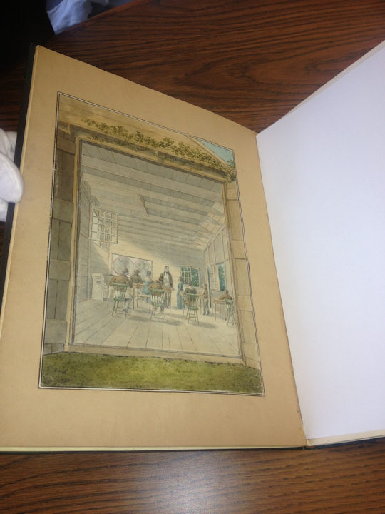 National Park Service Book: Book created by members of Morris Family in 1842 sketches of Germantown