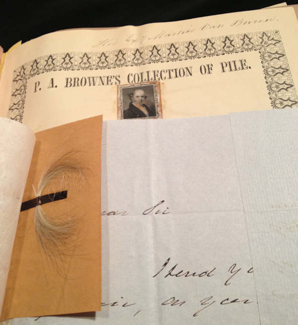 "<div class=""meta image-caption""><div class=""origin-logo origin-image ""><span></span></div><span class=""caption-text"">President Martin Van Buren hair from P.A. Brownes Collection of Pile</span></div>"