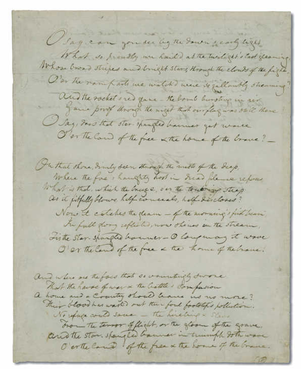 "<div class=""meta ""><span class=""caption-text "">Pictured: The Star-Spangled Banner - Front (Courtesy of the Historical Society of Pennsylvania.)</span></div>"
