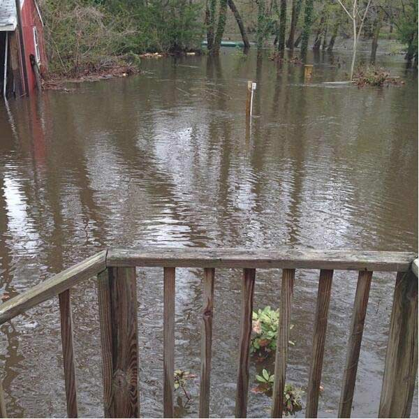 Flooding in Medford, NJ. Photo sent in by Jessica.