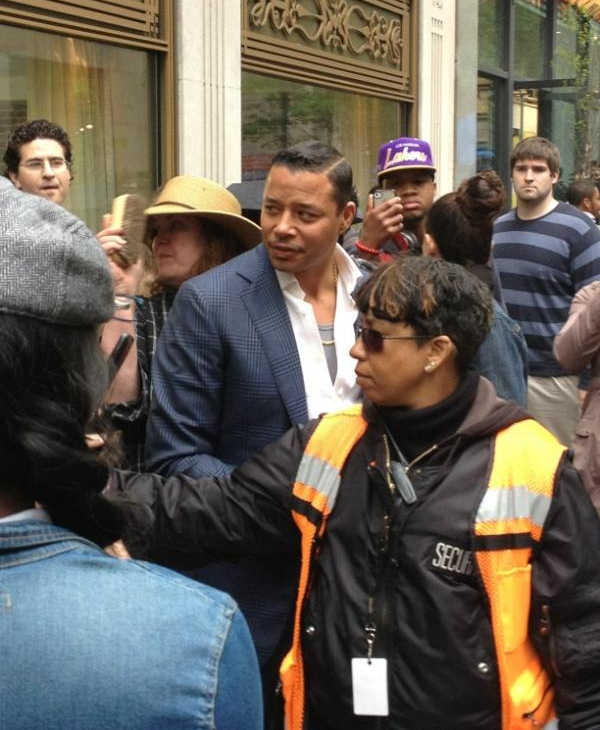 This was the scene at 17th and Walnut in Center City Philadelphia on Wednesday, May 2nd as production crews filmed part of the movie &#34;Dead Man Down.&#34;  Actor Terrence Howard is seen here on location. <span class=meta>(Dead Man Down movie shoot in Philadelphia)</span>