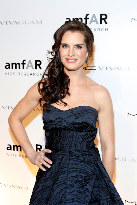 Actress Brooke Shields named her daughter Grier Hammond Henchy. In this Feb. 10, 2010 file photo originally released by MAC Cosmetics, actress Brooke Shields attends the amfAR New York Gala in New York.  (AP Photo/MAC Cosmetics, David Goldman)