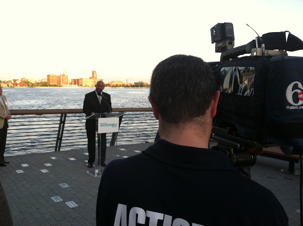 The Action Cam was at The Race Street Pier along the Delaware Waterfront for an official ribbon cutting from Mayor Michael Nutter on May 11, 2011.