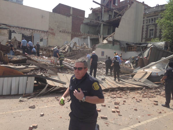 "<div class=""meta ""><span class=""caption-text "">An Action News viewer sent in this photo of the collapse on 22nd and Market street in Center City Philadelphia on Wednesday, June 5th.</span></div>"