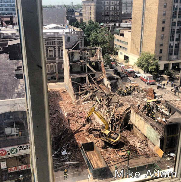 "<div class=""meta ""><span class=""caption-text "">Mike Adam posted this photo on his Instagram page of the building collapse on 22nd and Market streets on June 5, 2013. </span></div>"